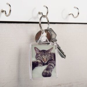Acyrlic photo keychain - double-sided (set of 100)