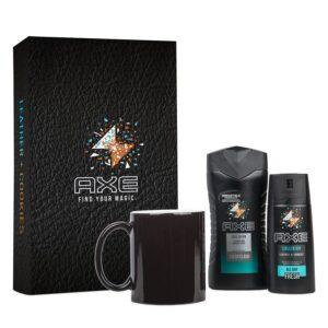 Axe gift set - Body Wash & Deodorant + Magic Mug (Leather & Cookies)