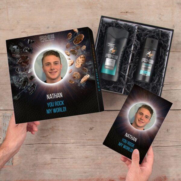 Axe gift set - Shower Gel & Deodorant + bullet journal (Leather & Cookies)