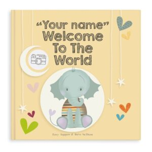 Baby book with name - Welcome to the world - Hardcover