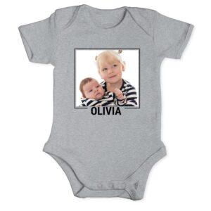 Baby romper - short sleeve - Grey - 62/68