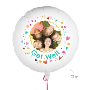 Balloon with photo - Get well soon