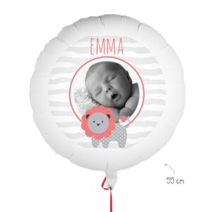 Balloon with photo - New Baby