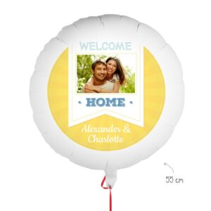 Balloon with photo - Welcome Home