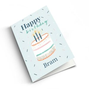 Birthday card with photo - M - Vertical