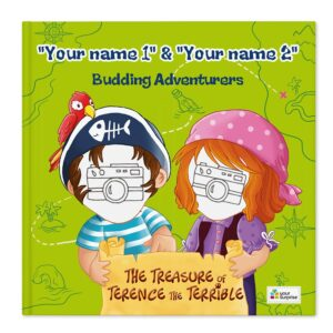 Book with name - Jack & Madie - Pirates - 2 lead roles (hardcover)