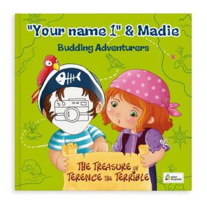 Book with name - Jack & Madie - Pirates - Boy (hardcover)