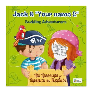 Book with name - Jack & Madie - Pirates - Girl (hardcover)