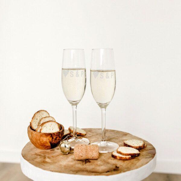 Champagne flutes - Valentine's Day (set of 2)