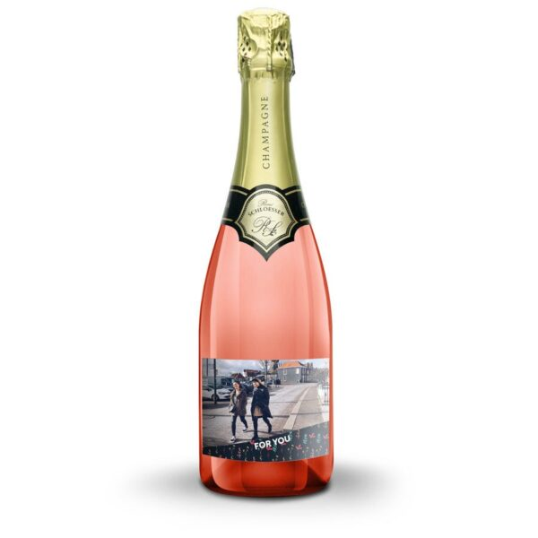 Champagne with printed label - René Schloesser rosé (750ml)