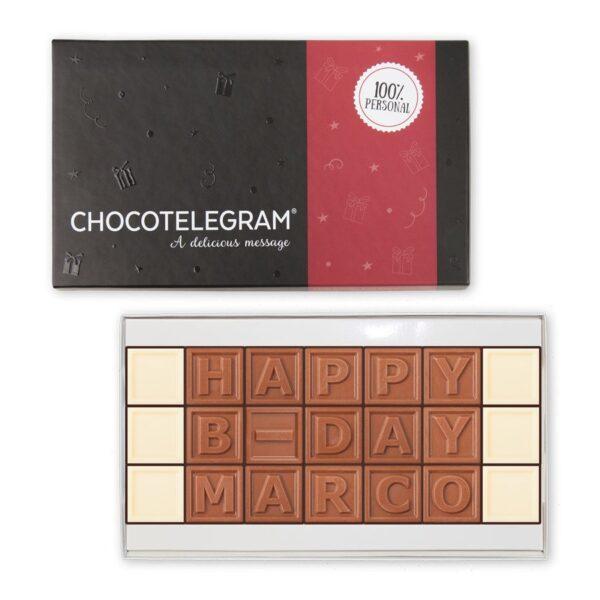 Chocolate telegram - 21 characters