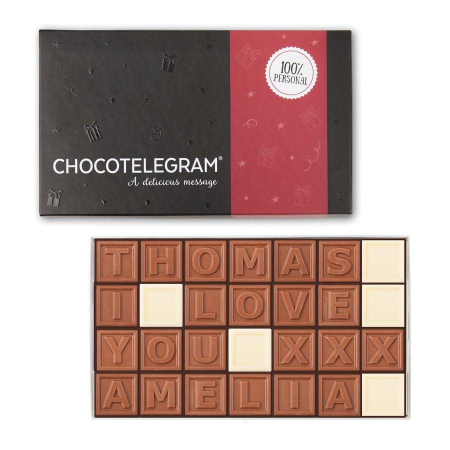 Chocolate telegram - 28 characters