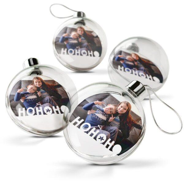 Christmas Bauble - Transparent (set of 4)
