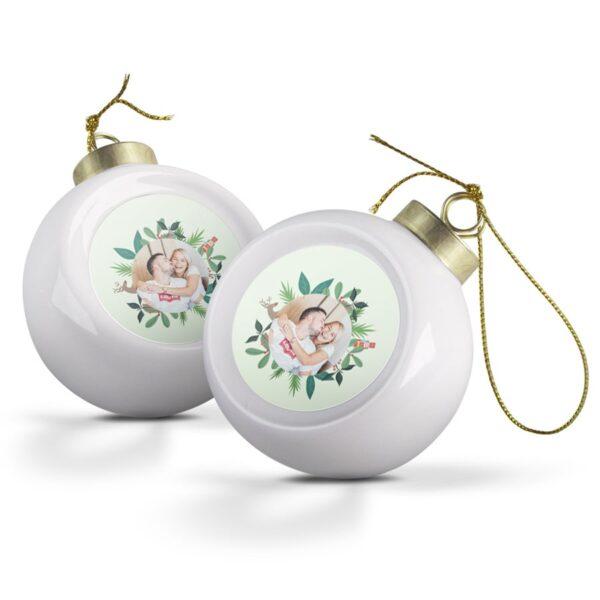Christmas Baubles - Ceramic (2 pcs)
