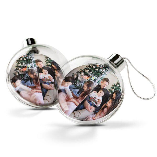 Christmas Baubles - Transparent (2pcs)