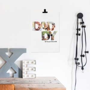 'Daddy & I' photo collage poster - 40 x 50 cm