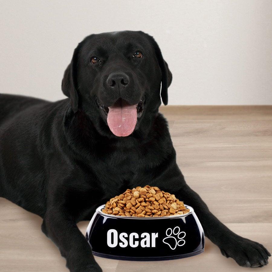Dog feeding bowl - Black - 700ml