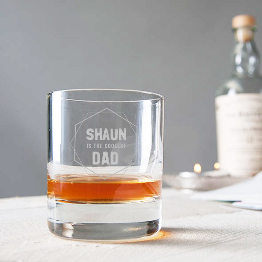 Father's Day whisky glass