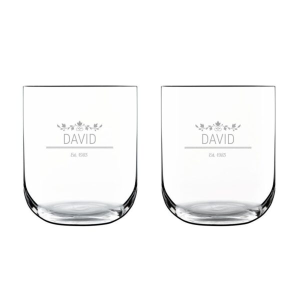 Luxurious personalised water glass (2 pieces)