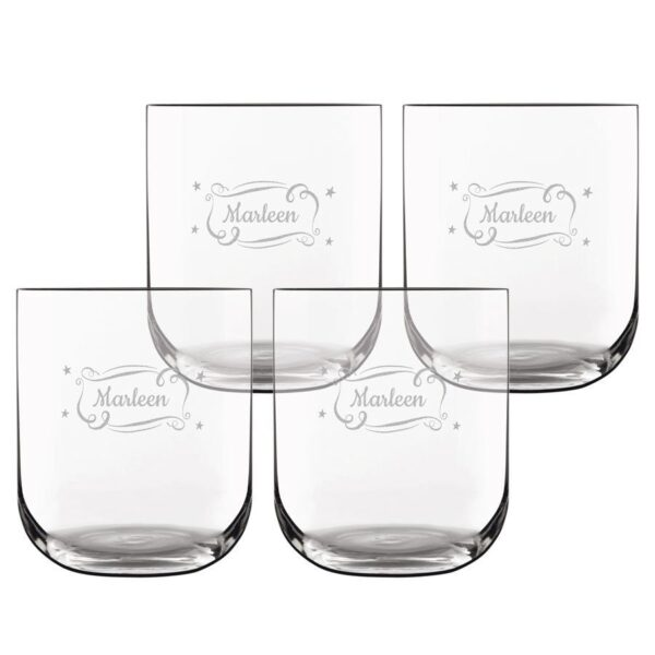 Luxurious personalised water glass (4 pieces)