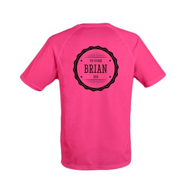 Men's sports t-shirt - Fuchsia - S