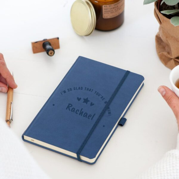 Mother's Day notebook - engraved - Blue