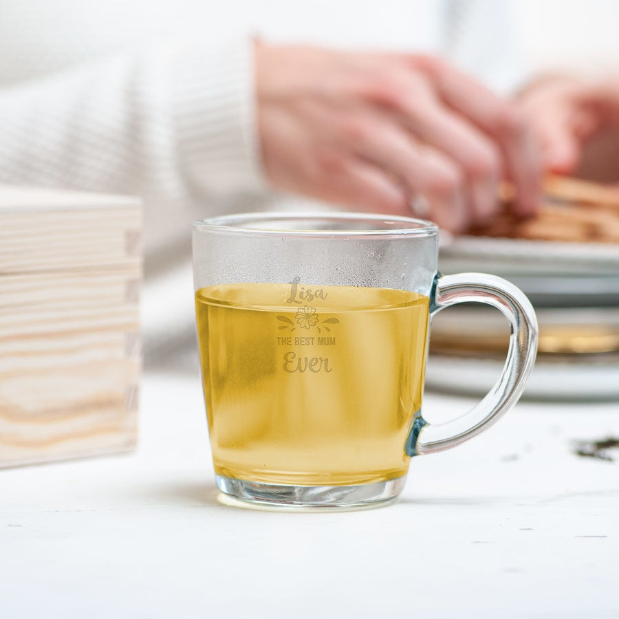 Mother's Day tea glass