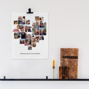 'Mummy & I' photo collage poster - 30 x 40 cm