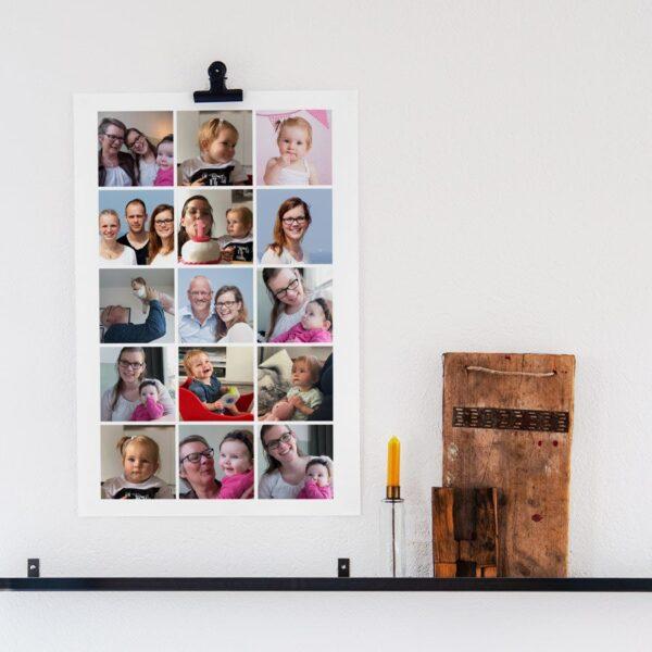 'Mummy & I' photo collage poster - 50 x 75 cm