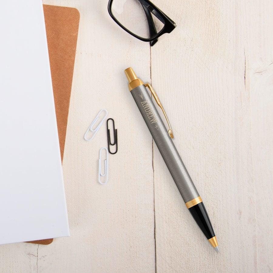 Parker - IM ballpoint pen - Brushed metal (left-handed)
