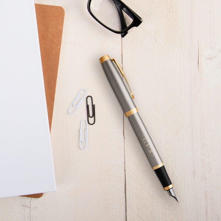 Parker - IM - fountain pen - Brushed metal (left-handed)
