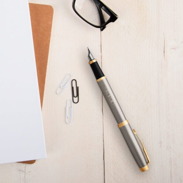 Parker - IM - fountain pen - Brushed metal (right-handed)
