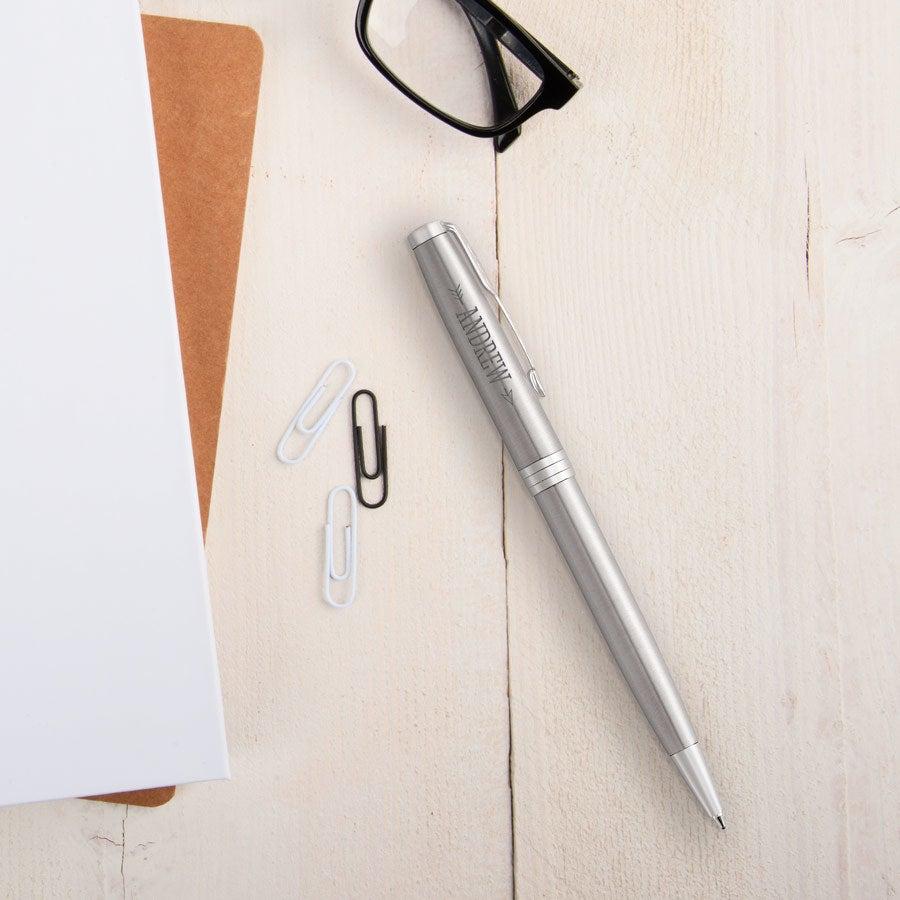 Parker - Sonnet Steel ballpoint pen - Silver (left-handed)