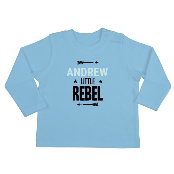 Personalised Baby T-shirt - Long sleeve - Blue - 50/56