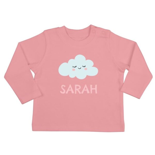 Personalised Baby T-shirt - Long sleeve - Pink - 50/56