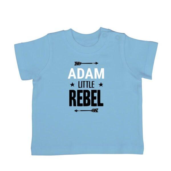 Personalised Baby T-shirt - Short sleeve - Blue - 62/68