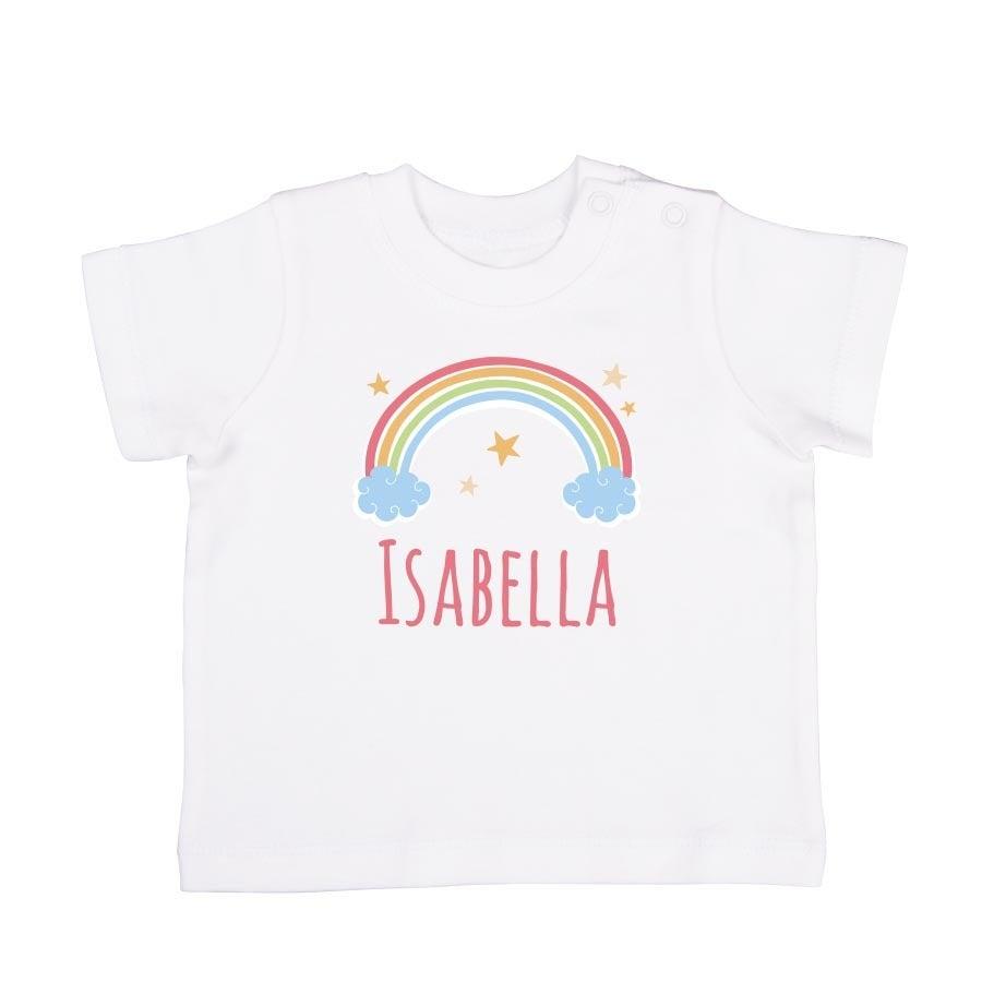 Personalised Baby T-shirt - Short sleeve - White - 50/56