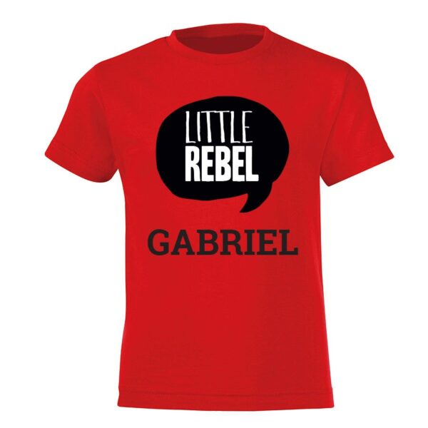 Personalised T-shirt - Children - Red - 92