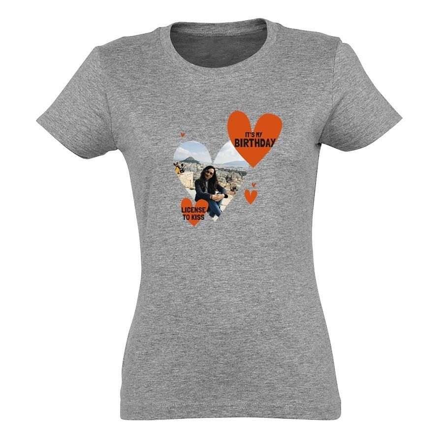 Personalised T-shirt - Women - Grey - S