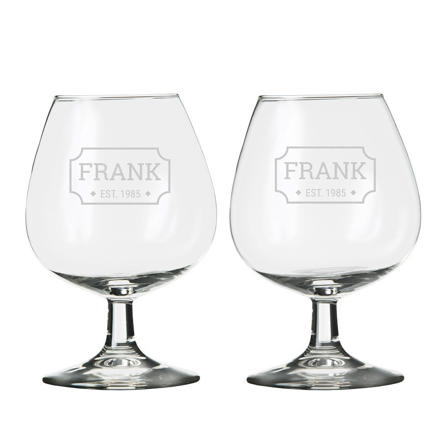 Personalised brandy glass (2 pieces)