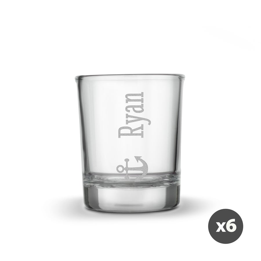 Personalised shot glasses (6 pieces)