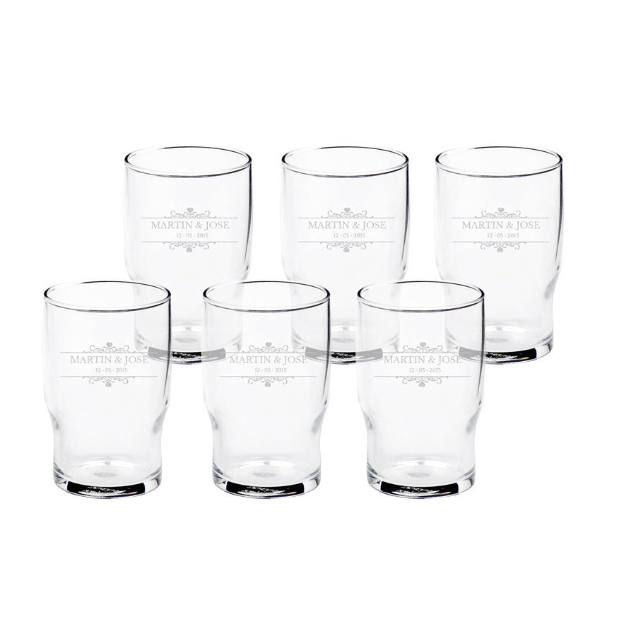 Personalised water glass (6 pieces)