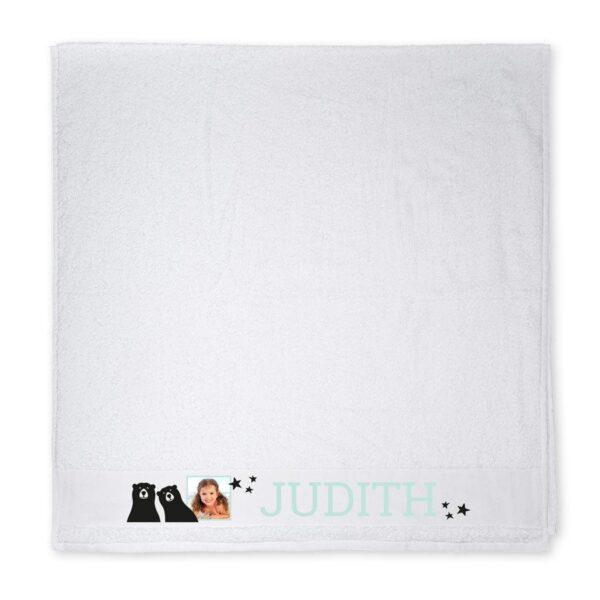 Photo beach towel - White