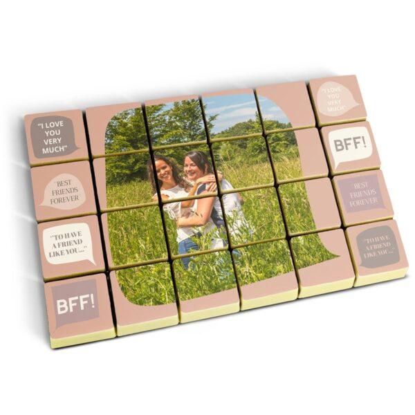 Photo on chocolate pralines - set of 24