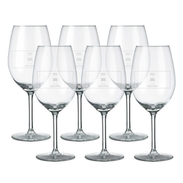 Red wine glass - set of 6