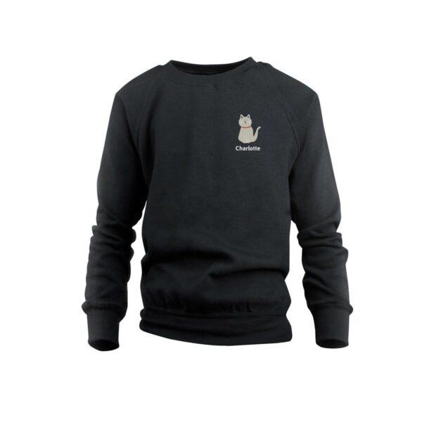 Sweatshirt - Kids - Black - 2years