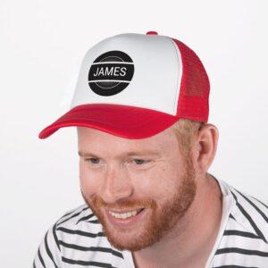 Trucker cap - Red/white