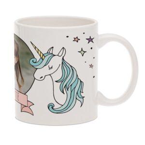 Unicorn mug with photo - White