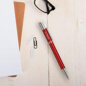 Viva Pens - Tess - engraved ballpoint pen - Red (left-handed)