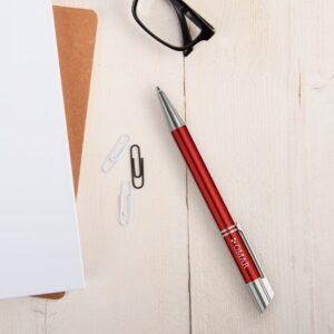 Viva Pens - Tess - engraved ballpoint pen - Red (right-handed)